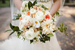 Clematis and Dahlia Bouquet