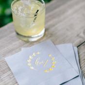 Custom Printed Wedding Napkins