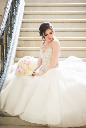 Elegant Bridal Portrait on Stairs