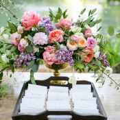 Escort Cards in Tray