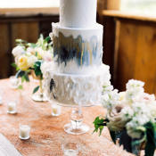 Feather Theme Wedding Cake