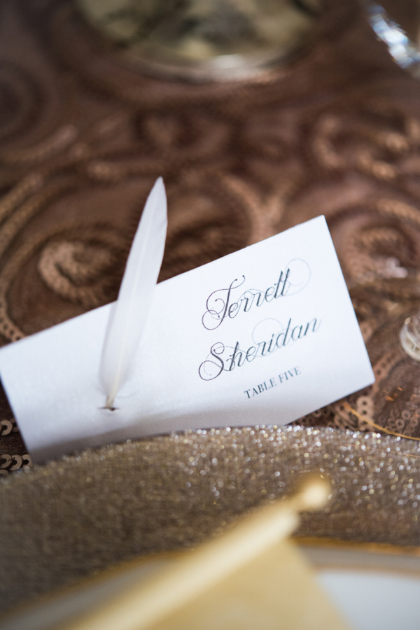 Feather in Place Card