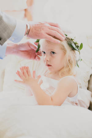 Flower Girl with Hair Garland