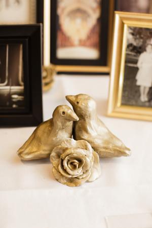 Gold Bird Wedding Decor