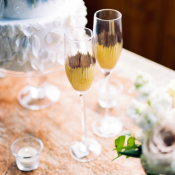Gold Dipped Wedding Flutes