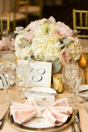 Gold Ivory and Pink Wedding