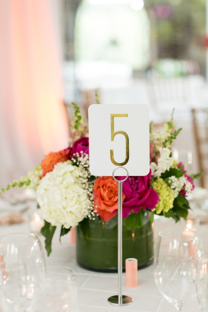 Gold Number Table Numbers