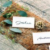 Handwritten Escort Cards