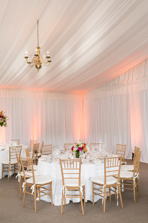 Hot Pink and Gold Reception