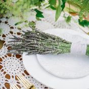 Lavender Bunch on Place Setting