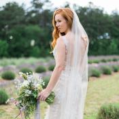 Lavender Farm Bridal Photos