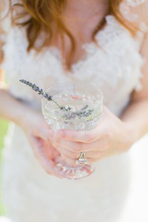 Lavender Sprig in Drink