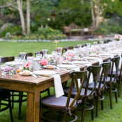Long Tables for Outdoor Wedding