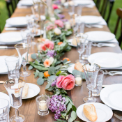 Long Wood Tables for Wedding