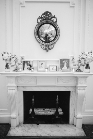 Mantel with Framed Photos