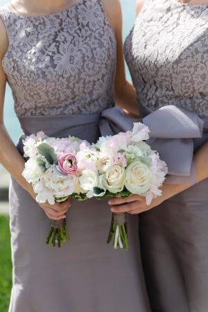 Mauve Lace Bridesmaids Dress
