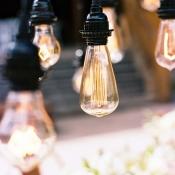 Modern Lamp Installation for Wedding