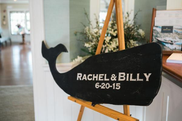 Nantucket Whale Wedding Sign