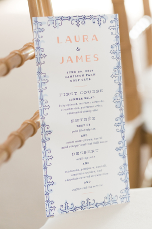 Navy and Peach Wedding Stationery
