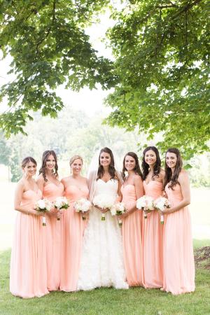 Pale Peach Donna Morgan Dresses