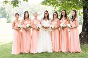 Peach Bridesmaids Dresses1