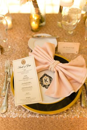 Pink Bow Napkin Fold