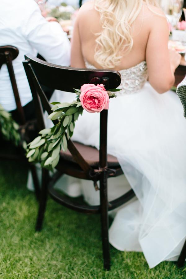Pink Flower Chair Decor