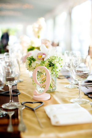 Pink Wood Table Number