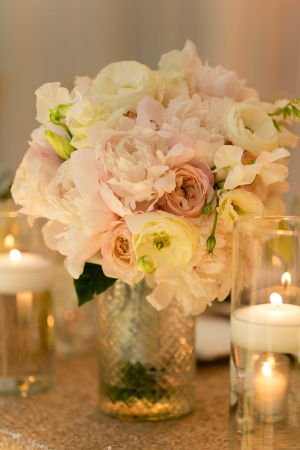 Pink and Ivory Wedding Flowers