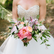 Pink and Purple Colorful Bouquet