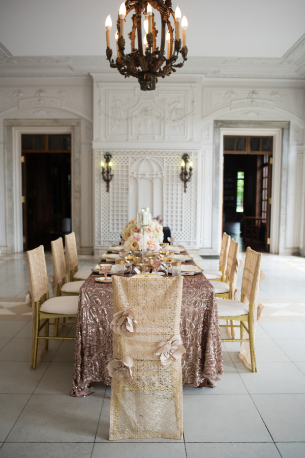 Rose Gold and Pink Wedding Table