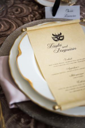 Scroll Wedding Menu