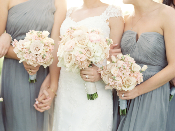 Slate Blue Bridesmaids Dresses