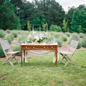 Table in Lavender Field