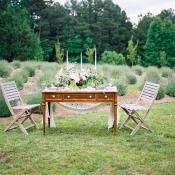 Table in Lavender Field