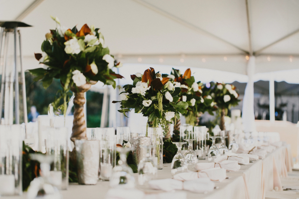 Tall Centerpieces of Greenery