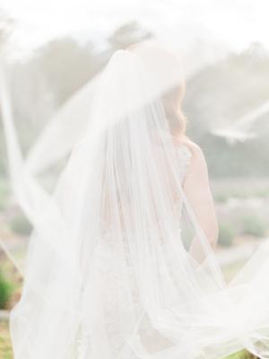 Veil Blowing in Wind