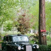 Vintage Black Cab at Wedding