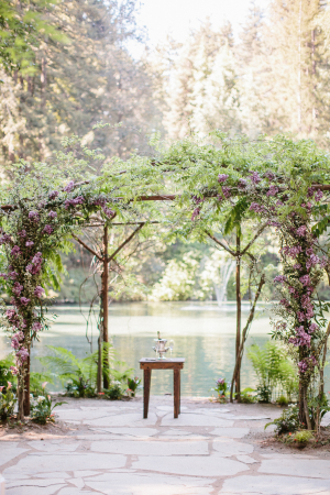 Wedding Arbor with Lavender