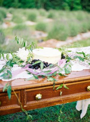 Wedding Cake with Blackberries