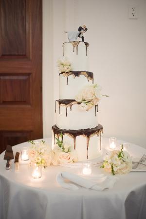 Wedding Cake with Chocolate Drips