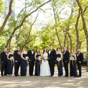 Wedding Party in Olive Park