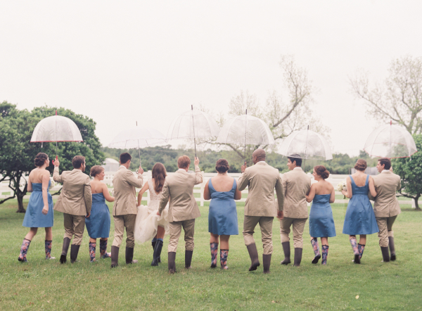Wedding Party in Rain Boots