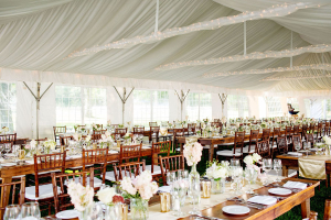 Wedding Tables Inside Tent