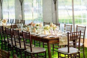 Wood Wedding Tables