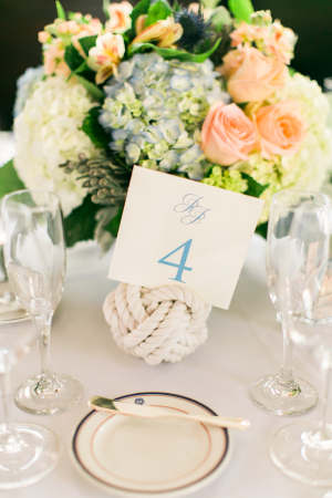 Ball of Rope Nautical Wedding Centerpiece