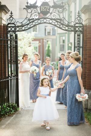 Blue Lace Amsale Gowns