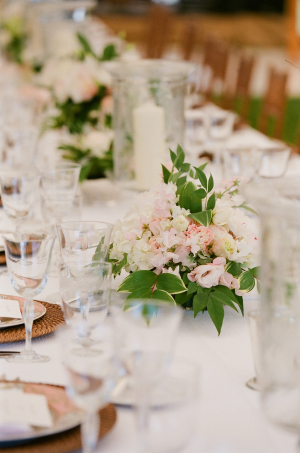 Blush and Green Centerpiece