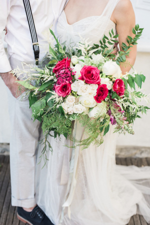 Bouquet with Fuchsia and Ivory
