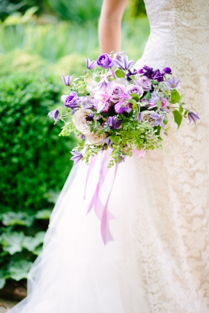 Bouquet with Purple Flowers
